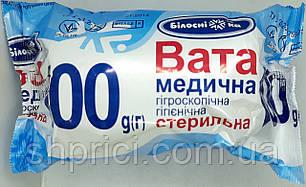 Вата стерильная 100 г ролик/ Белоснежка/ Укрмедтекстиль