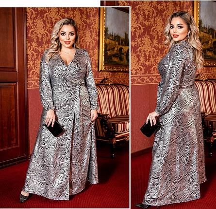 Платье нарядное длинное в пол в большом размере Украина Размеры:50-52, 54-56, 58-60, фото 2