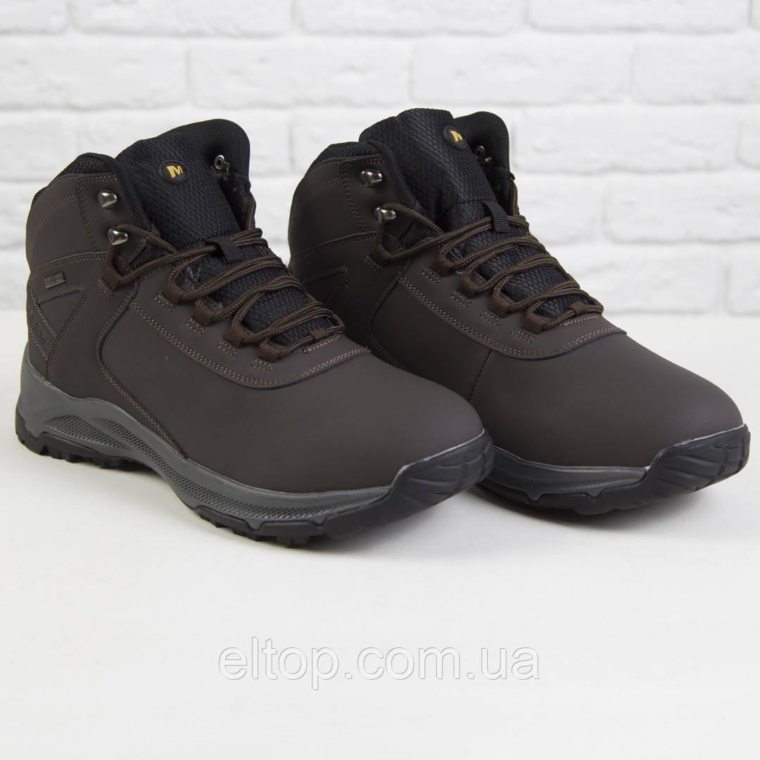 Повседневные ботинки кроссовки мужские зимние на меху теплые из нубука Supo размер 41 - 46