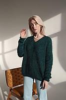Женский свитер ангора изумруд