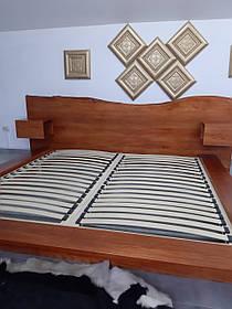 """Двоспальне ліжко """"Діана"""" з бука (щит, масив)"""
