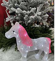 Светящаяся Фигура (LED) Новогодний Единорог рождественские украшения для дома под елку на новый для детей.