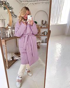 Женское пальто на синтепоне батал