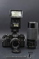 Minolta X-700 kit MD 50mm f1.7 + Ritzcam MC 80-200mm f3.9 + Flash, фото 1