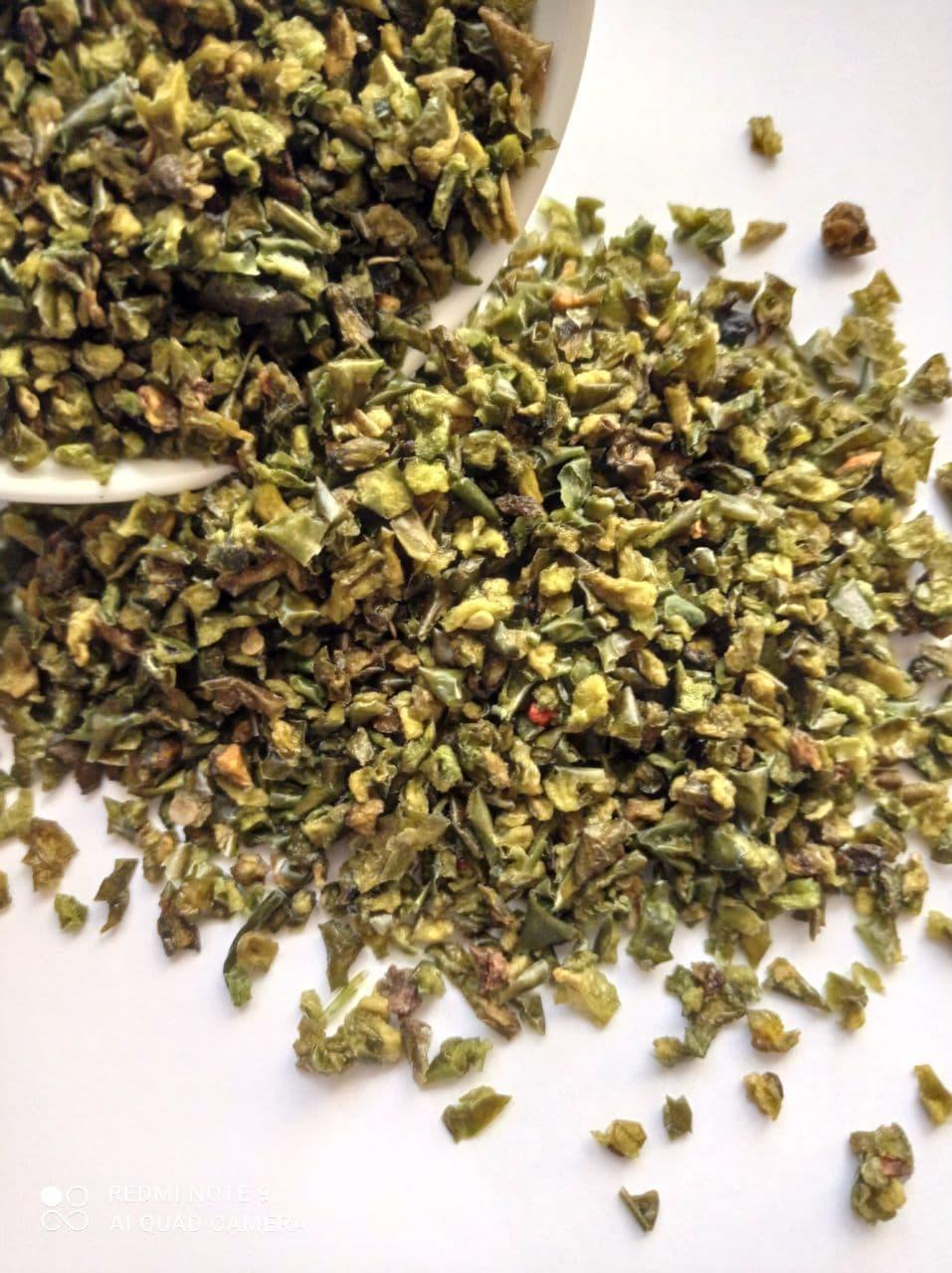 Паприка сладкая зеленая резанная 6*6 (Китай), 100 грамм