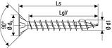 Саморез SPAX с покр. WIROX 6х45, полная резьба, потай, PZ3, 4CUT, упак. 200 шт., пр-во Германия, фото 5