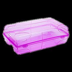 Коробка для женской обуви фиолетово-прозрачная