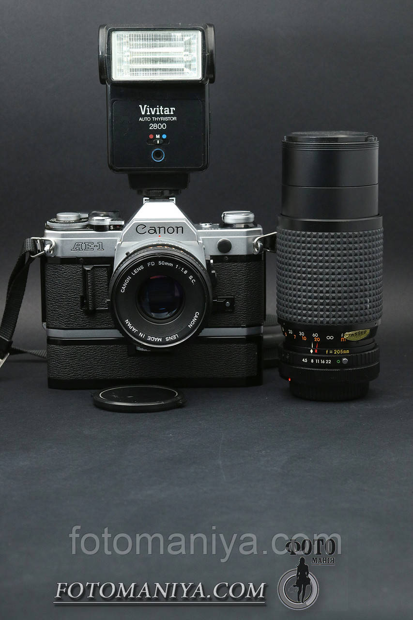 Canon AE-1 kit Canon FD 50mm f1.8  S.C + Osawa MC 80-205mm f4.5 + Winder + Flash