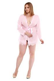Розовый халатик большого размера