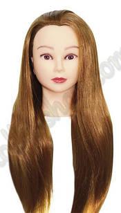 Тренировочный манекен-голова для моделирования причесок с искусственным париком