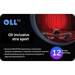 "Подписка на OLL TV пакет ""Oll inclusive extra sport"" на 12 месяцев"
