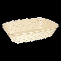 Хлебная корзина под ротанг бежевая