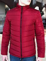Мужская Весенняя куртка пуховик (Осень) красная