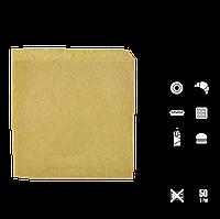 """Куточок КРАФТ паперовий """"Т"""", 140*140мм. Упаковка 100шт, 2000шт/ящ, фото 1"""