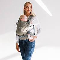 Эрго рюкзак для новорожденных ONE + Cool Organic сеточкой на спинке Love & Carry для переноски детей Кардамон, фото 1