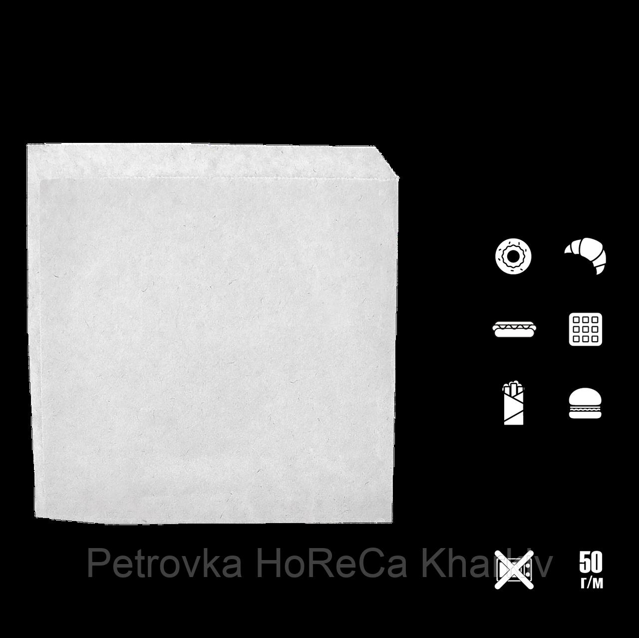 Пакет паперовий Куточок Білий 140*140, 100шт/уп 2000шт/ящ