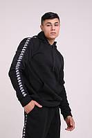 Худи утеплённое чёрное с лампасами Nike