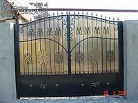 """Автоматические распашные кованые ворота (поликарбонат+металл) """"стандарт класс"""""""