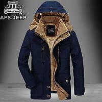 Парка пуховик куртка мужская зимняя теплая на меху молодежная Jeep Размер М