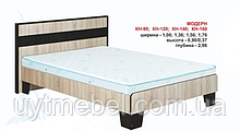 Ліжко КН-160 + ламель дуб сонома/венге м. (Абсолют)
