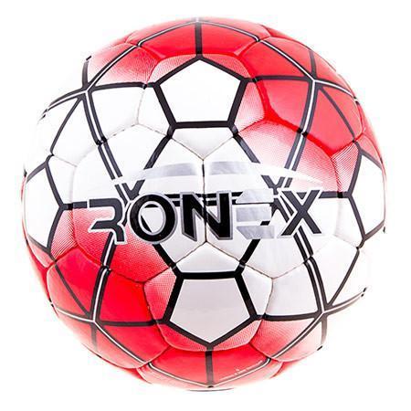 Мяч футбольный DXN Ronex(NK), красный/серебро
