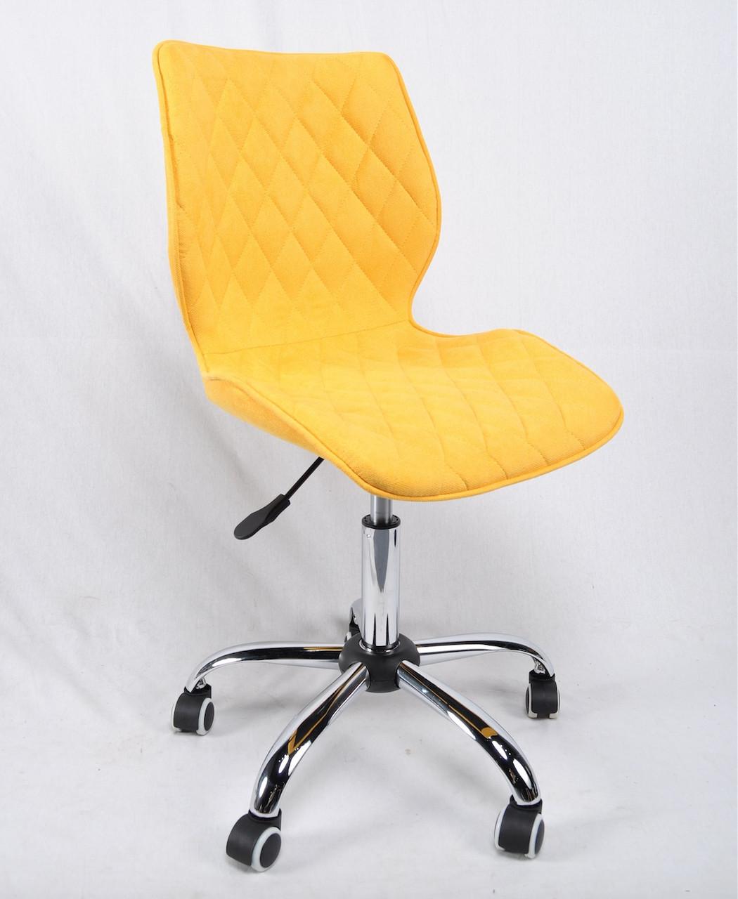 Стілець Тоні TONI CH-Office жовта тканина, на колесах