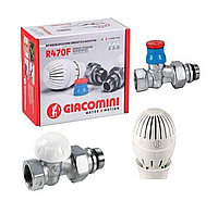 Комплект для підключення радіаторів прямий 1/2 Giacomini, фото 1