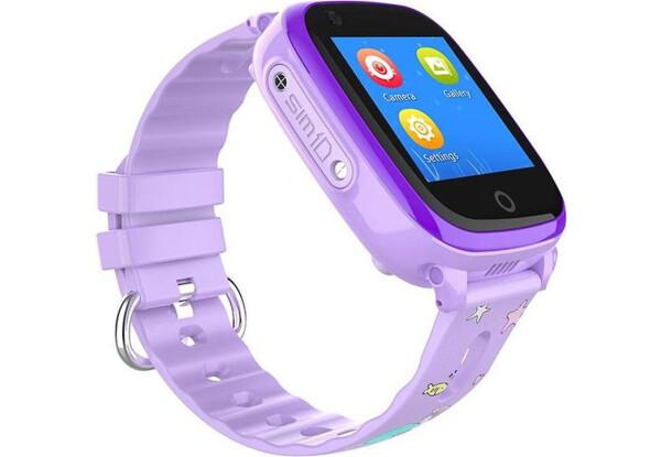Умные детские часы Smart baby watch DF33Z Purple GPS, IP67, шагомер