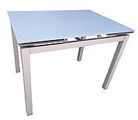 Стол обеденный раскладной стеклянный серо-бежевый DAOSUN DT 8110