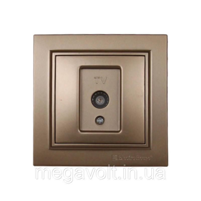 Розетка телевизионная Роскошно золотой Enzo IP22