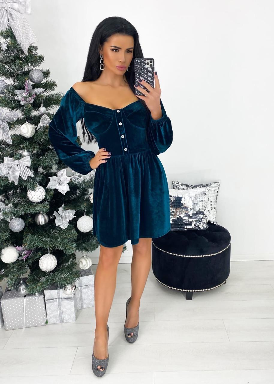 Платье женское бархат анд1390