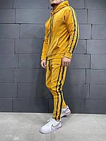 Чоловічий спортивний костюм велюровий 2Y Premium 6032 yellow, фото 1