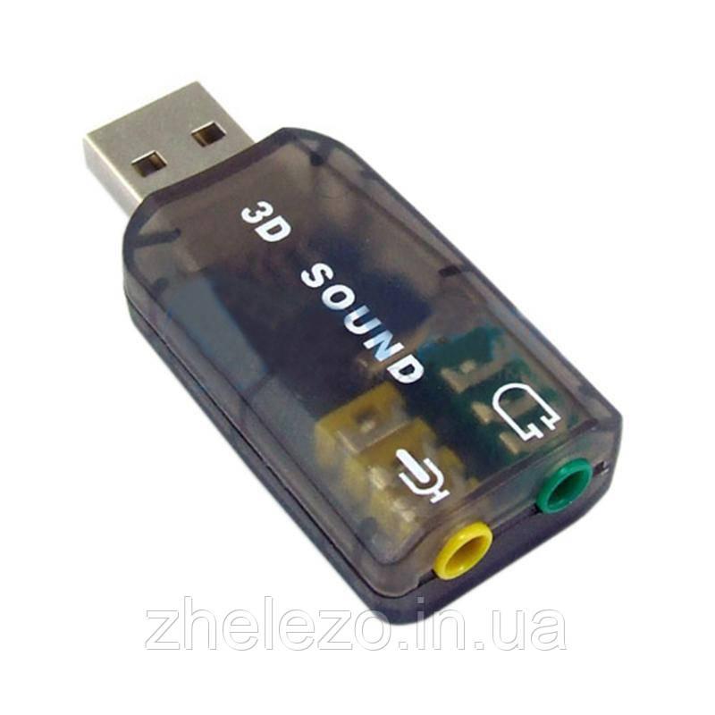 Звукова карта Dynamode USB 6(5.1) каналів 3D RTL (39623)