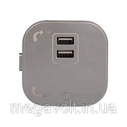 Розетка 2-я USB Pandora 2A IP40