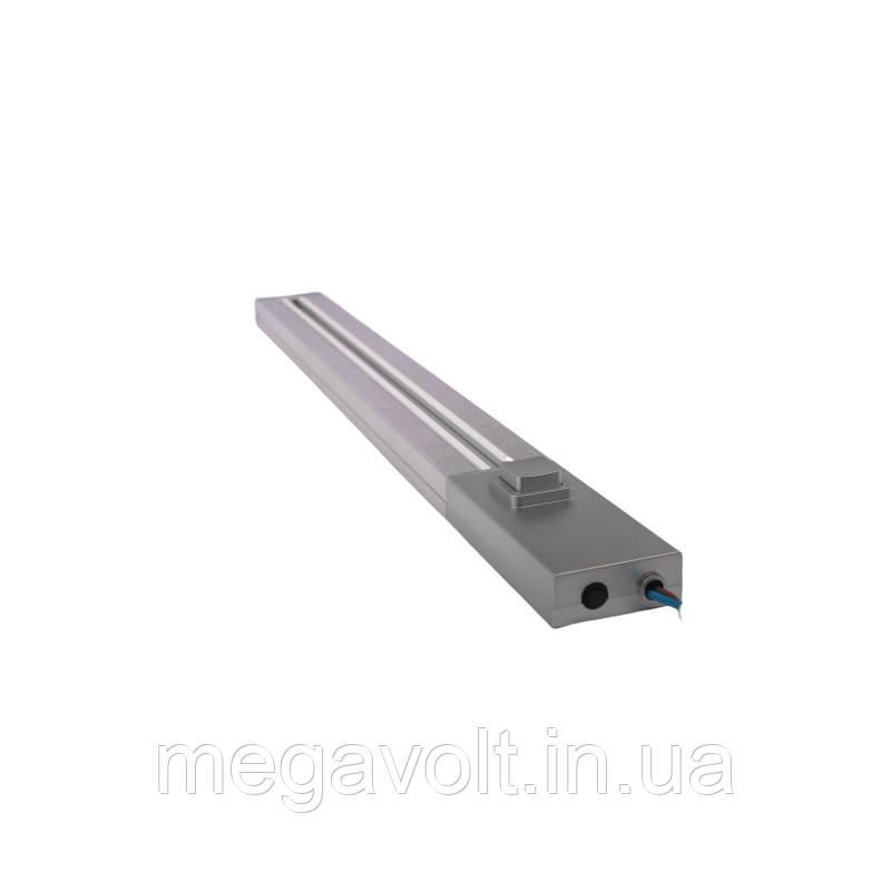 Трековая рейка серебро 1м