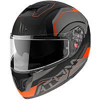 Шлем MT Atom SV Quark Black/Orange, фото 1