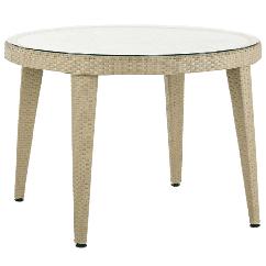 Стол Tilia Osaka d110 см столешница из стекла, ножки пластиковые цвет кофе