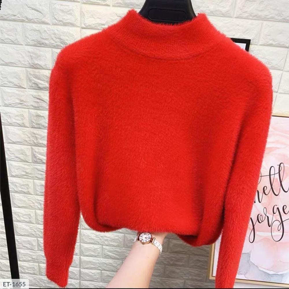 Женский свитер травка