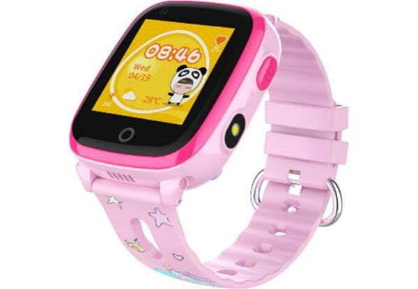 Умные детские часы Smart baby watch DF33Z Pink GPS, IP67, шагомер