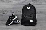 Молодіжний міський, спортивний рюкзак, портфель New Balance, нью бэланс. Чорний, фото 7