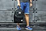 Молодіжний міський, спортивний рюкзак, портфель New Balance, нью бэланс. Чорний, фото 8
