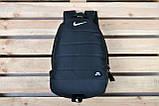 Качественный городской, спортивный рюкзак Nike Air, найк. Черный, фото 9