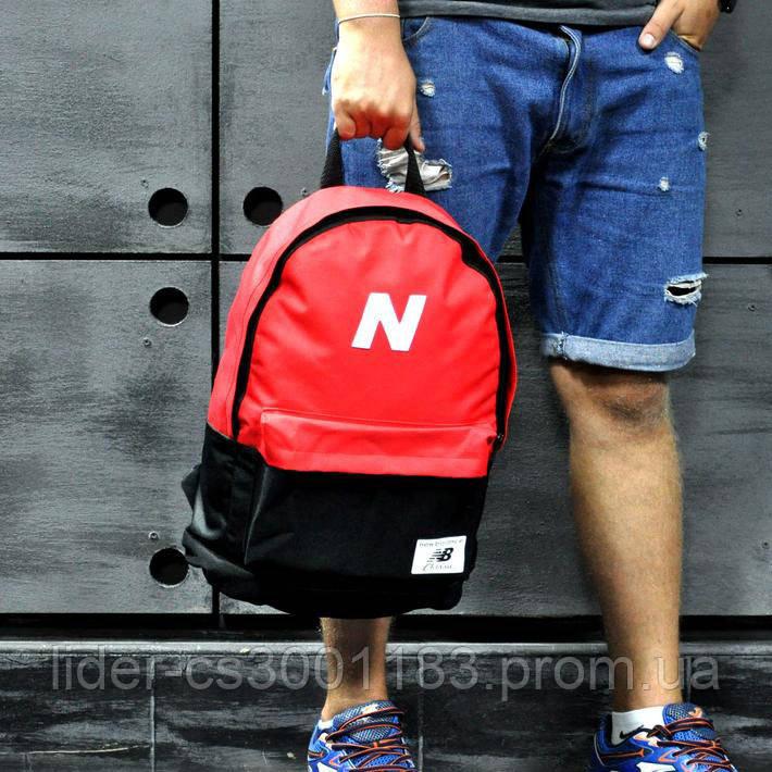 Рюкзак спортивный. Нью бланс, New Balance. Красный с черным