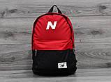 Рюкзак спортивный. Нью бланс, New Balance. Красный с черным, фото 3