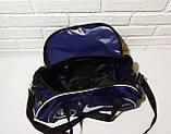 Спотривная сумка adidas для фитнеса с плечевым ремнем. Черная с голубым, фото 2