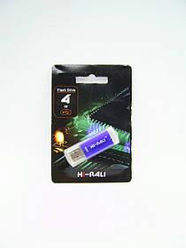Флеш-накопитель Usb 4Gb Hi-Rali Rocket (V-Cut) series Blue