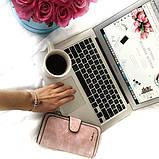 Жіночий гаманець, клатч Baellerry Forever, балери. Ніжно-рожевий (пудровий). Замша PU, фото 7