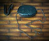 Жіноча бананка, поясна сумка гучи, Gucci, кроссбоди. Чорна / 8811, фото 2