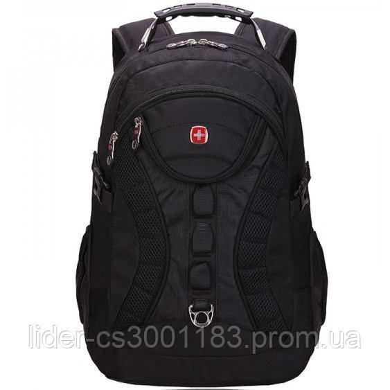 Вместительный рюкзак SwissGear Wenger, свисгир. Черный. + Дождевик. / s7226 black