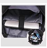 Місткий рюкзак SwissGear Wenger, свисгир. Чорний. + Дощовик. / s7226 black, фото 6
